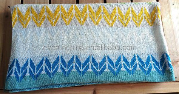 50db42 Knitting Machine Well Knit Blanket Arrow Knit Throw Blanket ...
