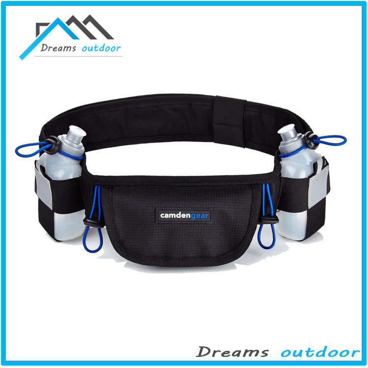 Hydration Belt With 2 BPA Free Water Bottles, Runner Waist Pack