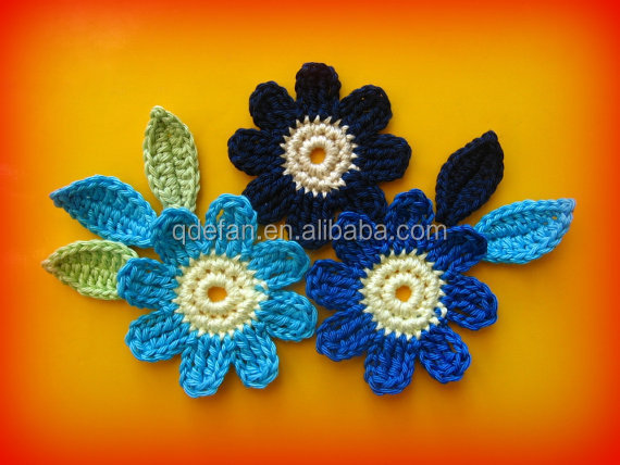 Fashion crochet appliques flower patterns crocheted corsage buy