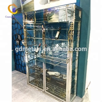 Custom quality stainless steel products wine cabinet, metal red wine cabinet.
