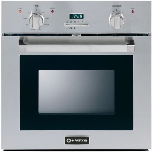 Get Quotations Verona Vebie24pss Stainless Steel Self Cleaning Electric Wall Oven 24 Inch