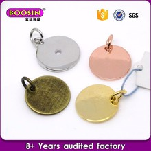 Blank Pave Charm Engraved logo are available Custom round charms wholesale