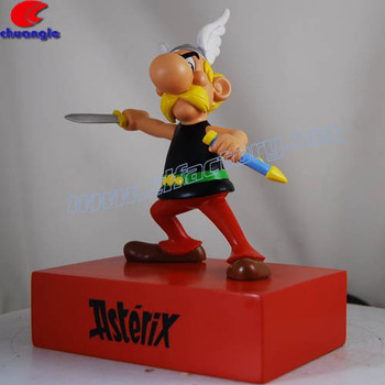 Polyresin cartoon bambole statuine cartoni animati in resina