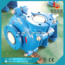 heavy duty rubber impeller diamond mining slurry pump