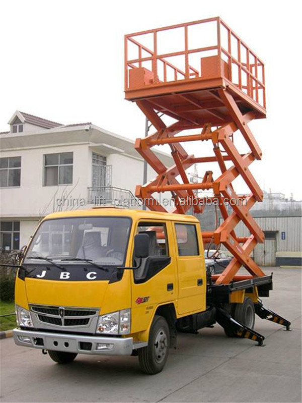 Hydraulic Boom Lifts For Pickups : Mobile scissor lift hydraulic man truck buy