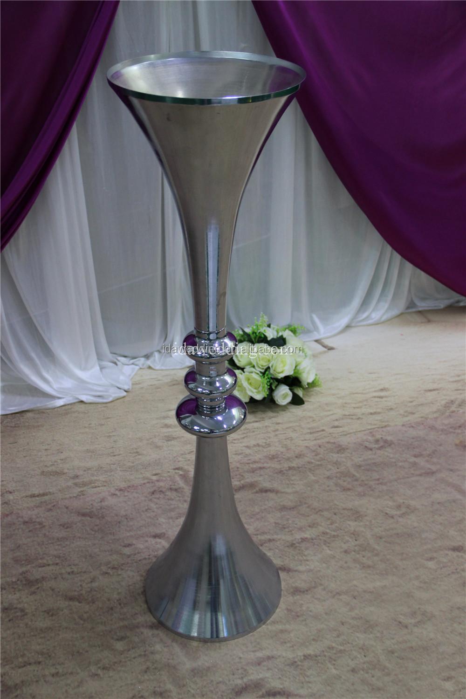 Chrome Silver Vases Wedding Metal Wholesale Trumpet Vase Hammered Metal Vases Decoration Buy