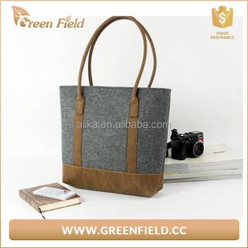 Customized Italian Designer High Class Felt Bag Purse Handmade Fabric Handbags