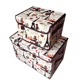 OEM Fabric Non Woven Folding white cute cube storage boxes