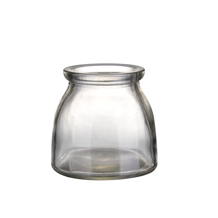 Großhandel recycelt sealable100ml glas joghurt container