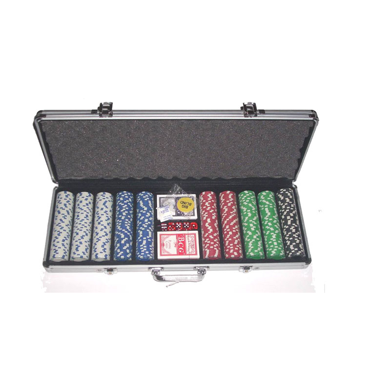 500 Pcs Aluminium Case Casino Stijl Poker Chip Set