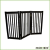Dark Espresso Wood 3 Panels Free Standing Folding Dog Pet Gate/Homex_BSCI