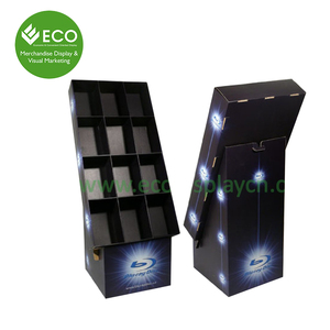 Carton Free Standing Floor Shelf Display Stand/Chewing Gun Carton Stand Display