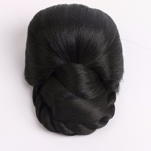 Synthetic braided chignon hair padding pieces bun accessories