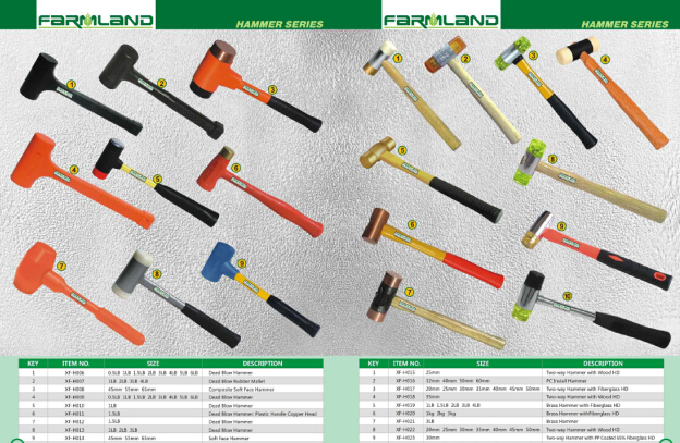 Types Of Hammers And Their Names Ball Peen Hammer Sizes ...