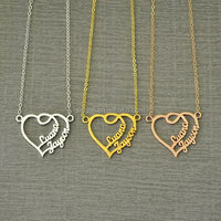 Free shipping Heart Name Necklace Personalized Name Necklace Gift for Girl Friend