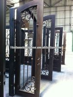 wrought iron luxury security door arts and crafts wrought iron fence made in China Factory