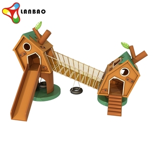 Wholesale indoor mini wooden playground with slide for children
