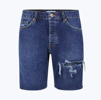 Doux Jeans Court Mi Lavage Bleu Slim Déchiré Denim Shorts Pantalons Pour  Homme 54ee39f0945