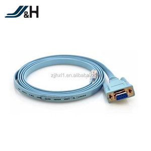 RS232 Serieal DB9 To RJ45 Cables Female To Male Connectors Flat Lan Cable