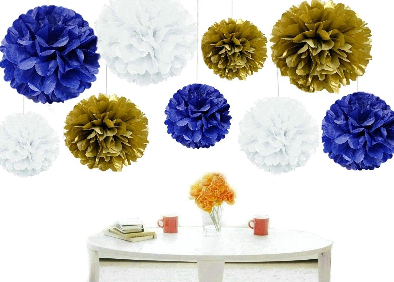 Buy Kubert Pom Poms 18pcs Of 8 10 14 Multi Colors Tissue Paper