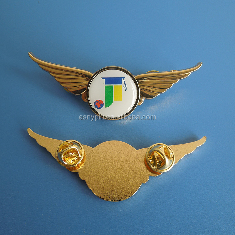 Custom Airline Uniform Pilot Metal 3d Wing Badge Printing Your Logo  Wholesale Aviation - Buy Unique Wholesale Gifts,Custom Aviator Wing  Badge,Metal