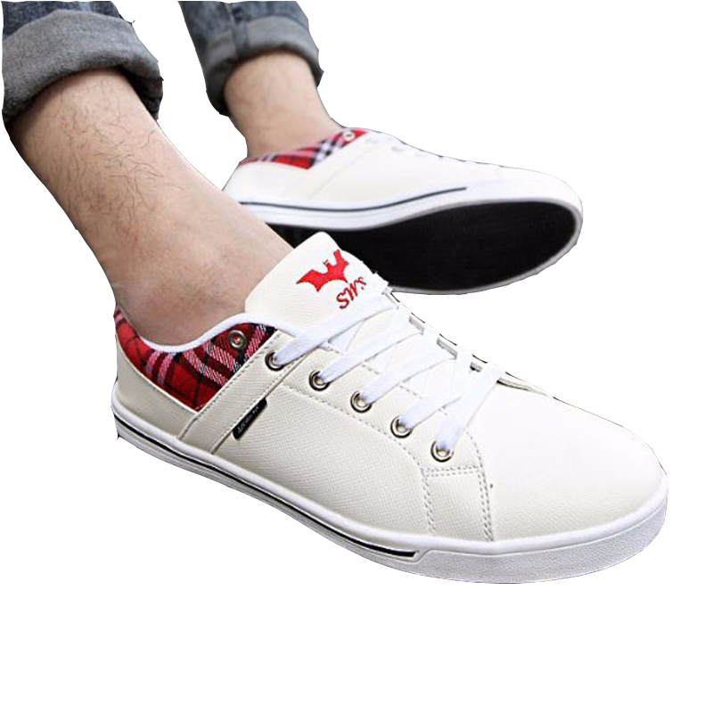 2015 New Spring High Quality Men Fashion Sneakers Luxury Casual White Shoes Mens Fashion Sneakers For Mans Sport Flat Sneakers
