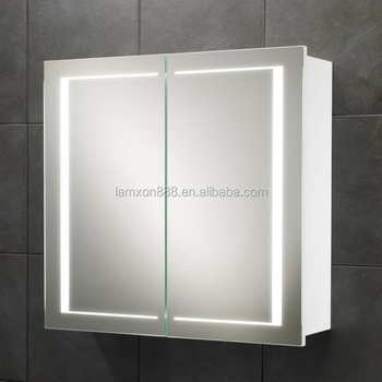 New Style Wall Mount Medicine Cabinet With Double Sided Mirror Door Led Lighted Illuminated Bathroom High Quality