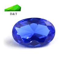 High temperature oval cut 4*6 blue synthetic nano spinel gemstone for jewelry