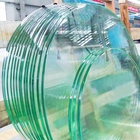 High quality clear round tempered glass table top, table top glass prices