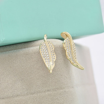 Fashion Design Gold Leaf Jewelry Earring Small