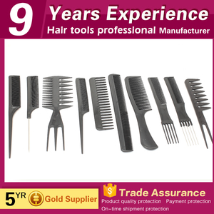 cheap popular carbon cutting plastic clear goody hair combs for sale