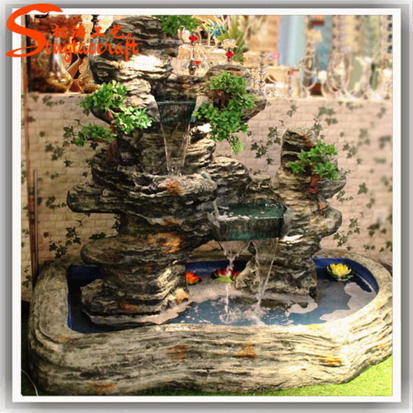 Wholesale indoor rockery wall water fountains for garden for Decorative pond fish
