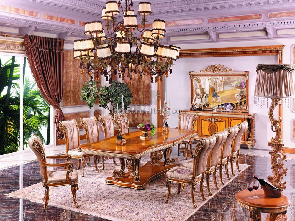 Luxury French Executive Wooden Office Desk New Baroque Luxury