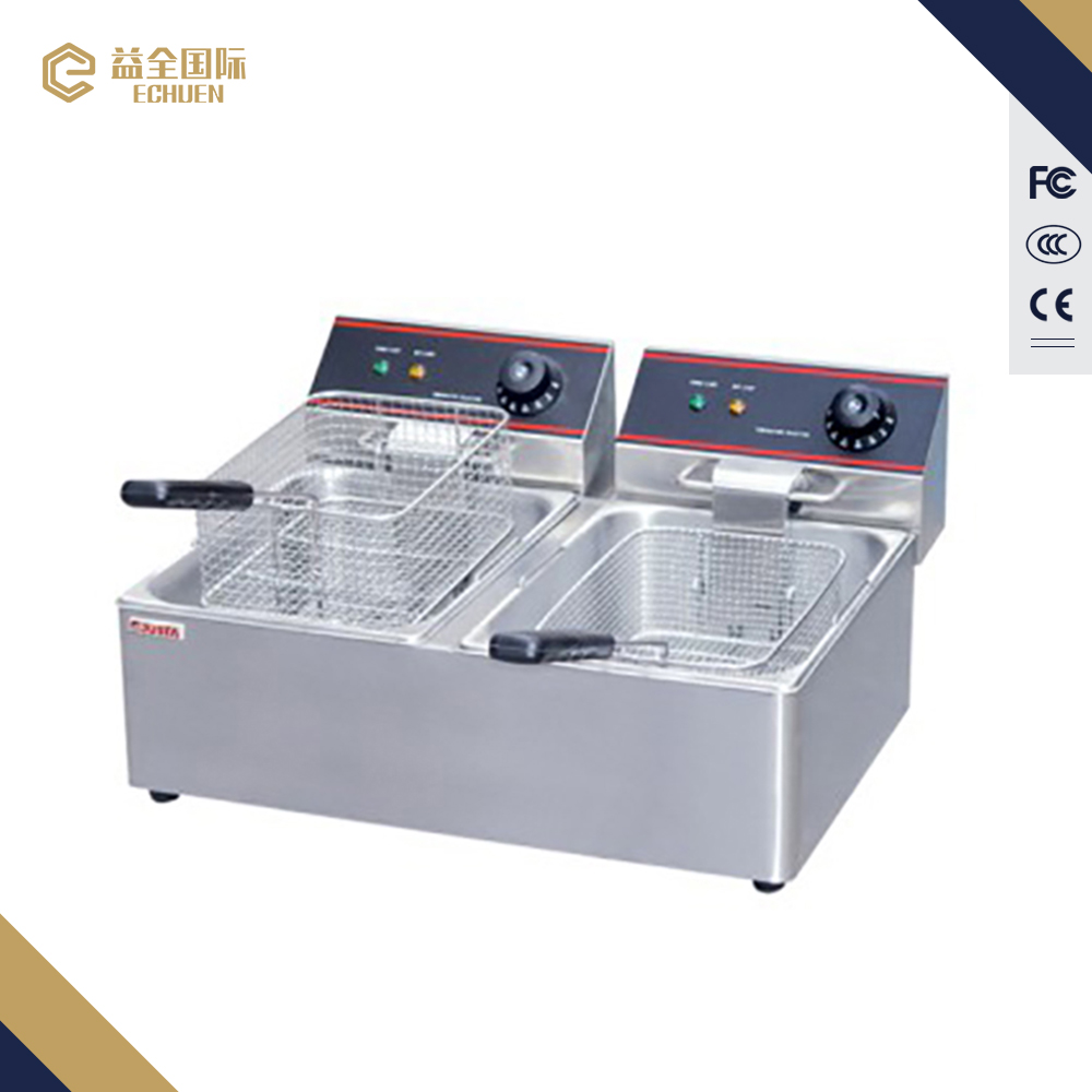 Commercial electric oilless fryer Electric 2-tank fryer