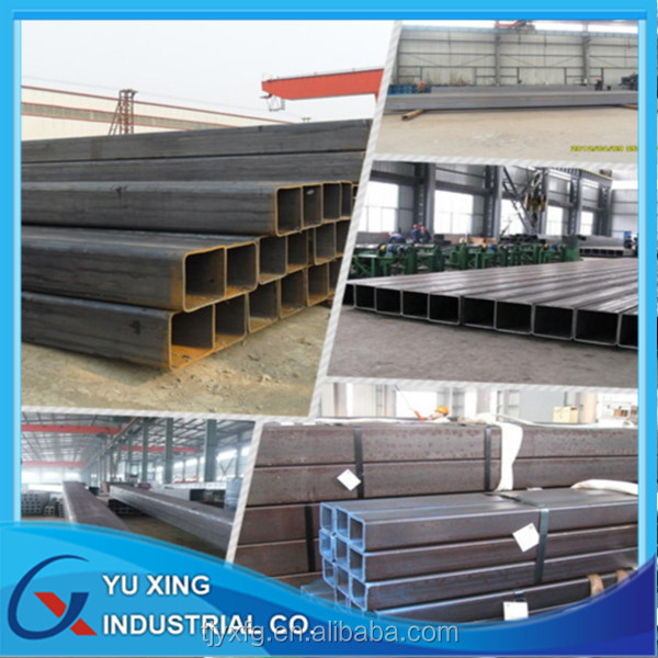 Black iron square steel tube/ rectangular steel tube/Hollow section steel tube profile in tianjin
