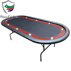96 inch Professional Casino Oval Custom Folding Cheap Poker Table with Racetrack and Cup Holders