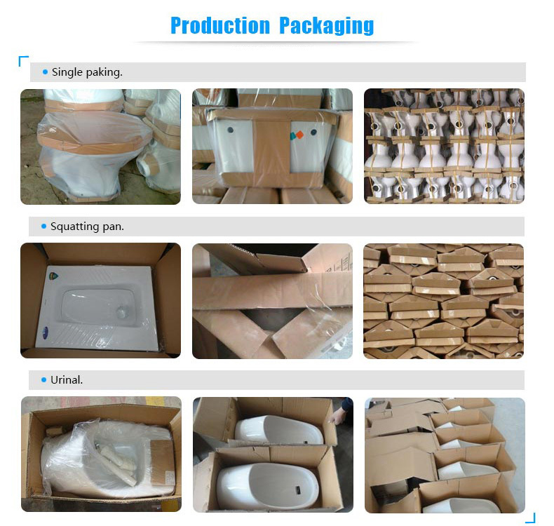 China supplier ceramic bathroom design squatting toilet pan