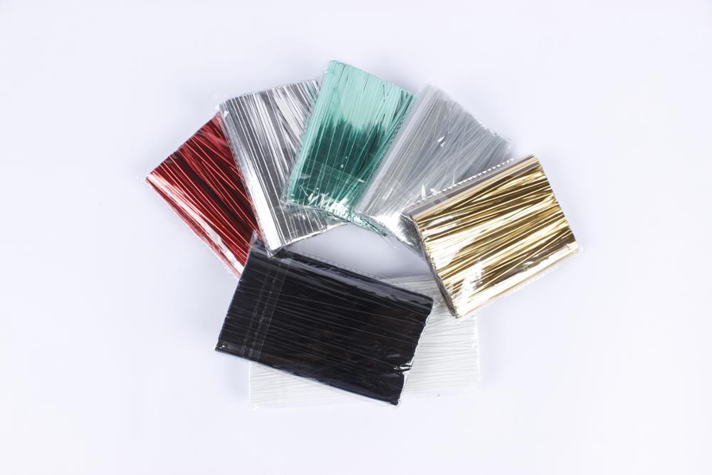 Zhenjiang Hongda sıcak satış 1000mts altın gümüş PET rulo Büküm Kravat / metalik makara büküm bağları