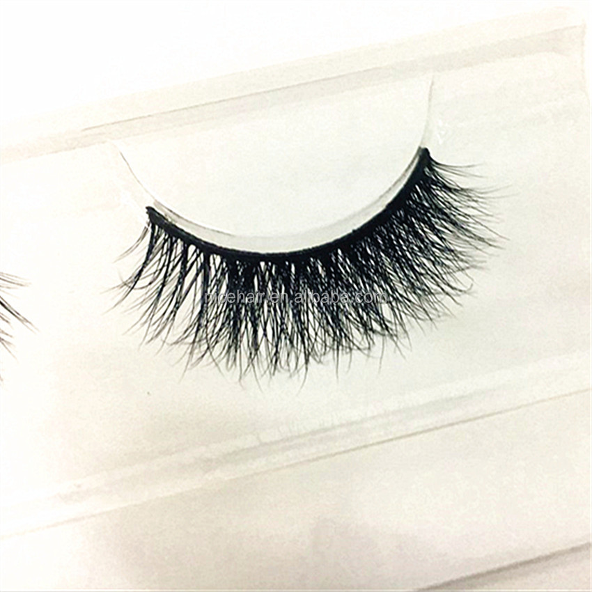 100% real mink fur hot selling charming 3d false eyelashes with custom eyelash packing