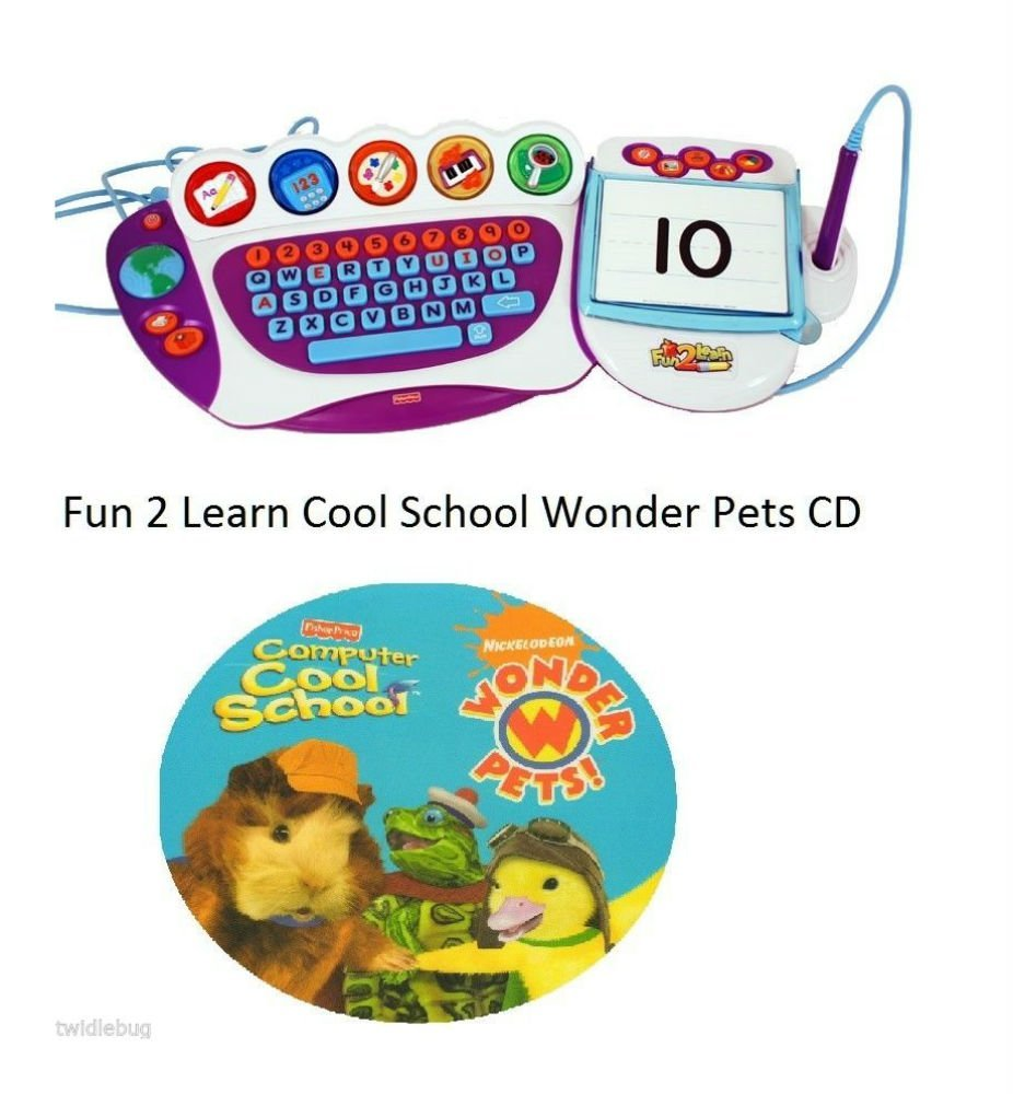 Fun 2 Learn Computer Cool School Software Wonder Pets Game CD
