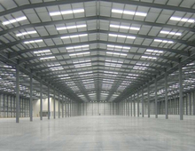 Prefabricated house meeting hall with durable light steel frame.