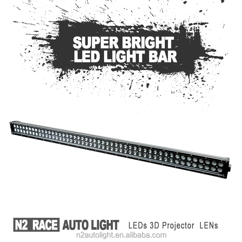 N2 Custom Off road SUV ATV auto Led Product 18W double row led lighting bar ip67 for cars,jeep,auto parts