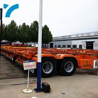 Low Price Truck Trailer Spare Parts Skeleton Semi Trailer 20Ft Container Chassis