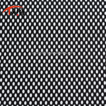 OEM shirt black mesh fabric bullet shaped netting fabric for basketball wear and ball games