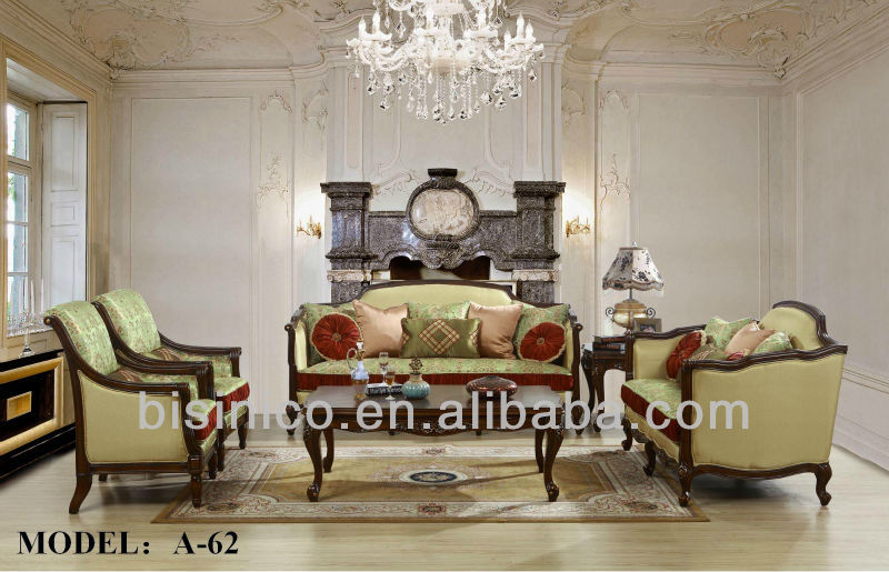 Luxury Living Room FurnitureAntique Spanish Style Sofa Sets