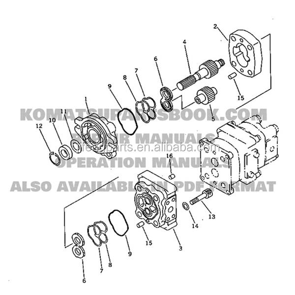excavator parts pc40-6 gear pumps 705-41-08010 pump