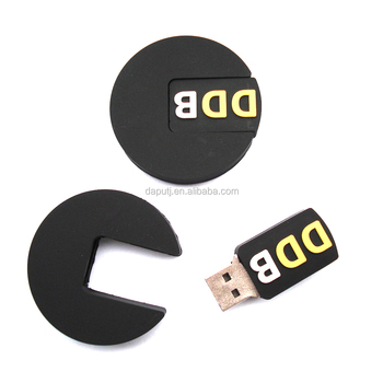 Unique Shape Usb Pen Drive Round Style Pvc Memory Stick With Your Company Logo For