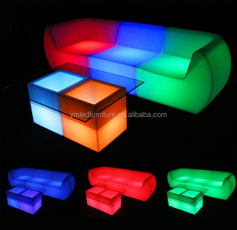 Rgb Led Lighted Inflatable Furniture - Buy Lighted Inflatable
