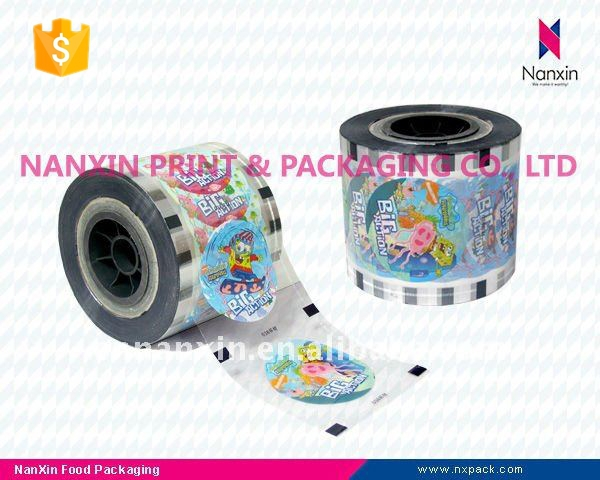 cup sealing film packaging and printing for bubble tea cup