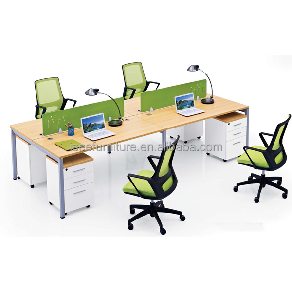 Big Space Office Furniture 2 Person Office Corner Workstation IC167